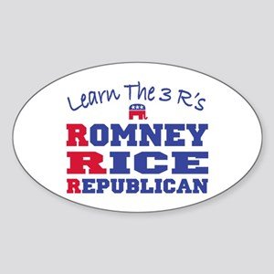 Romney Rice Republican 2012 Sticker (Oval)
