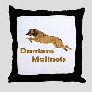 Dantero Malinois Logo - Square Throw Pillow