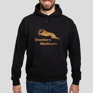 Dantero Malinois Logo - Square Hoodie (dark)