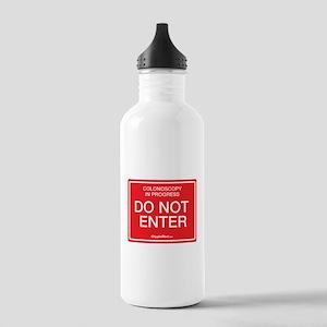 Colonoscopy Do Not Enter Water Bottle