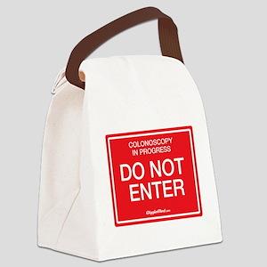 Colonoscopy Do Not Enter Canvas Lunch Bag