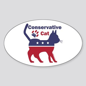 Conservative Cat Intro Sticker (Oval)