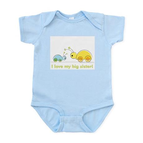 51304850 CafePress I Love My Big Sister Infant Bodysuit Baby Bodysuit