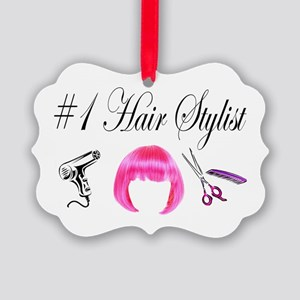 HAIR STYLIST Picture Ornament