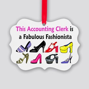 ACCOUNTING CLERK Picture Ornament