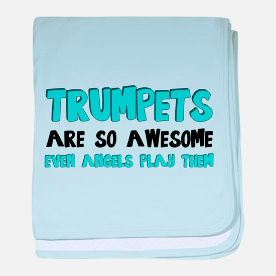Trumpets Are Awesome baby blanket