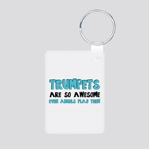 Trumpets Are Awesome Aluminum Photo Keychain