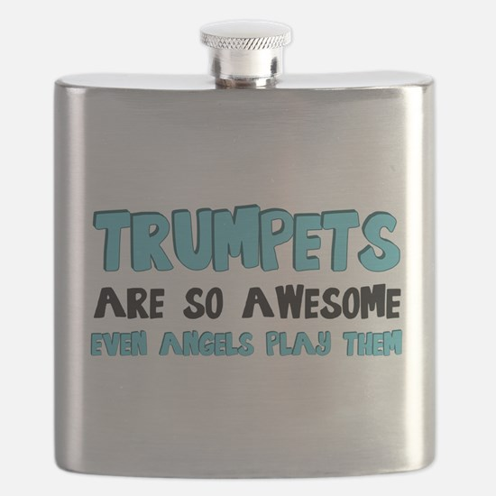 Trumpets Are Awesome Flask