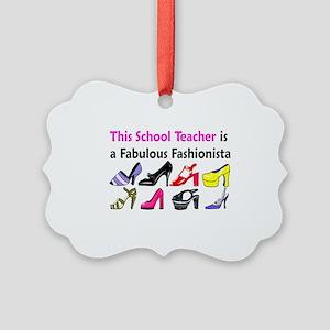 SCHOOL TEACHER Picture Ornament