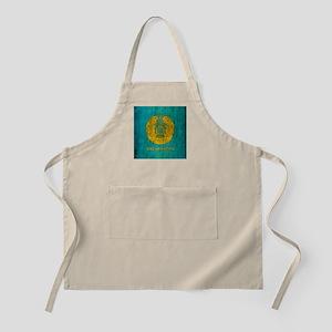 Grunge Kazakhstan Coat Of Arms Apron
