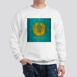 Grunge Kazakhstan Coat Of Arms Sweatshirt