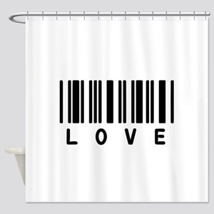 Love Barcode Shower Curtain