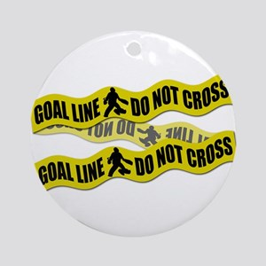 Field Hockey Crime Tape Ornament (Round)