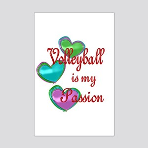 Volleyball Passion Mini Poster Print