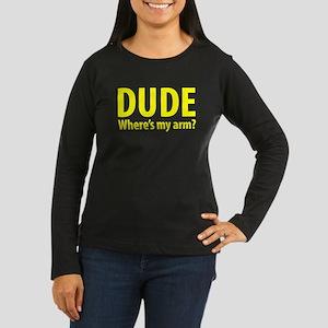 DudeArm.png Women's Long Sleeve Dark T-Shirt