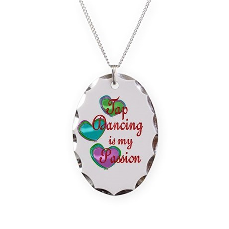 Tap Dancing Passion Necklace Oval Charm