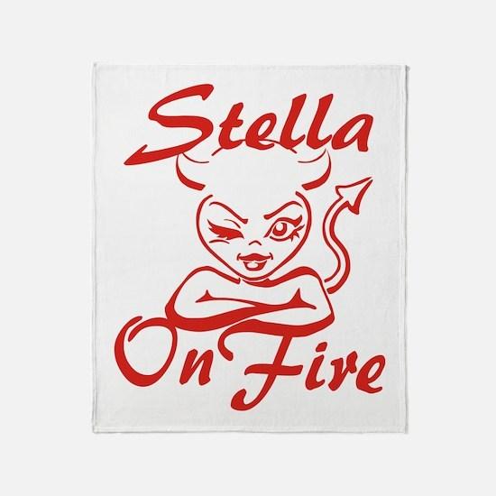 Stella On Fire Throw Blanket