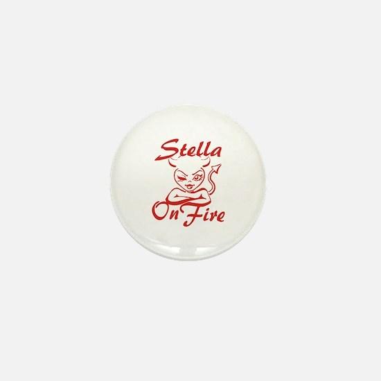 Stella On Fire Mini Button