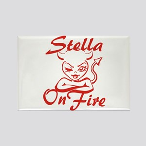 Stella On Fire Rectangle Magnet