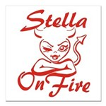 Stella On Fire Square Car Magnet 3