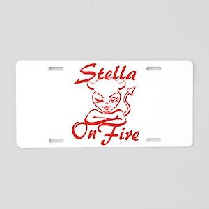 Stella On Fire Aluminum License Plate