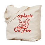 Stephanie On Fire Tote Bag