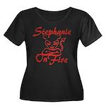 Stephanie On Fire Women's Plus Size Scoop Neck Dar