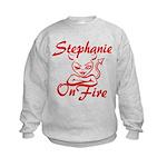 Stephanie On Fire Kids Sweatshirt