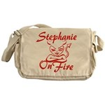 Stephanie On Fire Messenger Bag