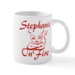 Stephanie On Fire Mug