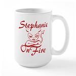 Stephanie On Fire Large Mug