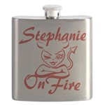 Stephanie On Fire Flask