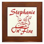 Stephanie On Fire Framed Tile