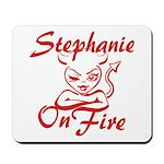 Stephanie On Fire Mousepad