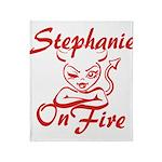 Stephanie On Fire Throw Blanket