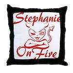 Stephanie On Fire Throw Pillow