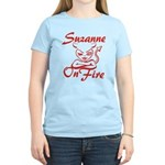 Suzanne On Fire Women's Light T-Shirt