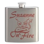 Suzanne On Fire Flask
