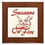 Suzanne On Fire Framed Tile