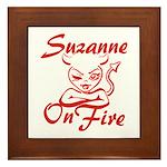Suzanne On Fire Framed Tile