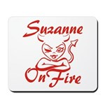 Suzanne On Fire Mousepad