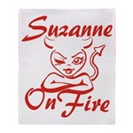 Suzanne On Fire Throw Blanket