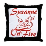 Suzanne On Fire Throw Pillow