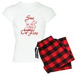Sue On Fire Women's Light Pajamas
