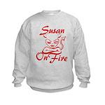 Susan On Fire Kids Sweatshirt