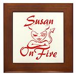 Susan On Fire Framed Tile