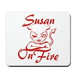 Susan On Fire Mousepad