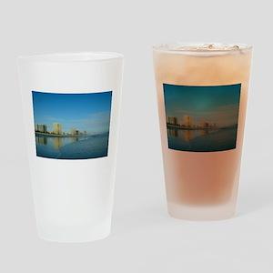 Jax Beach Florida Drinking Glass