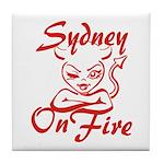 Sydney On Fire Tile Coaster