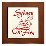 Sydney On Fire Framed Tile